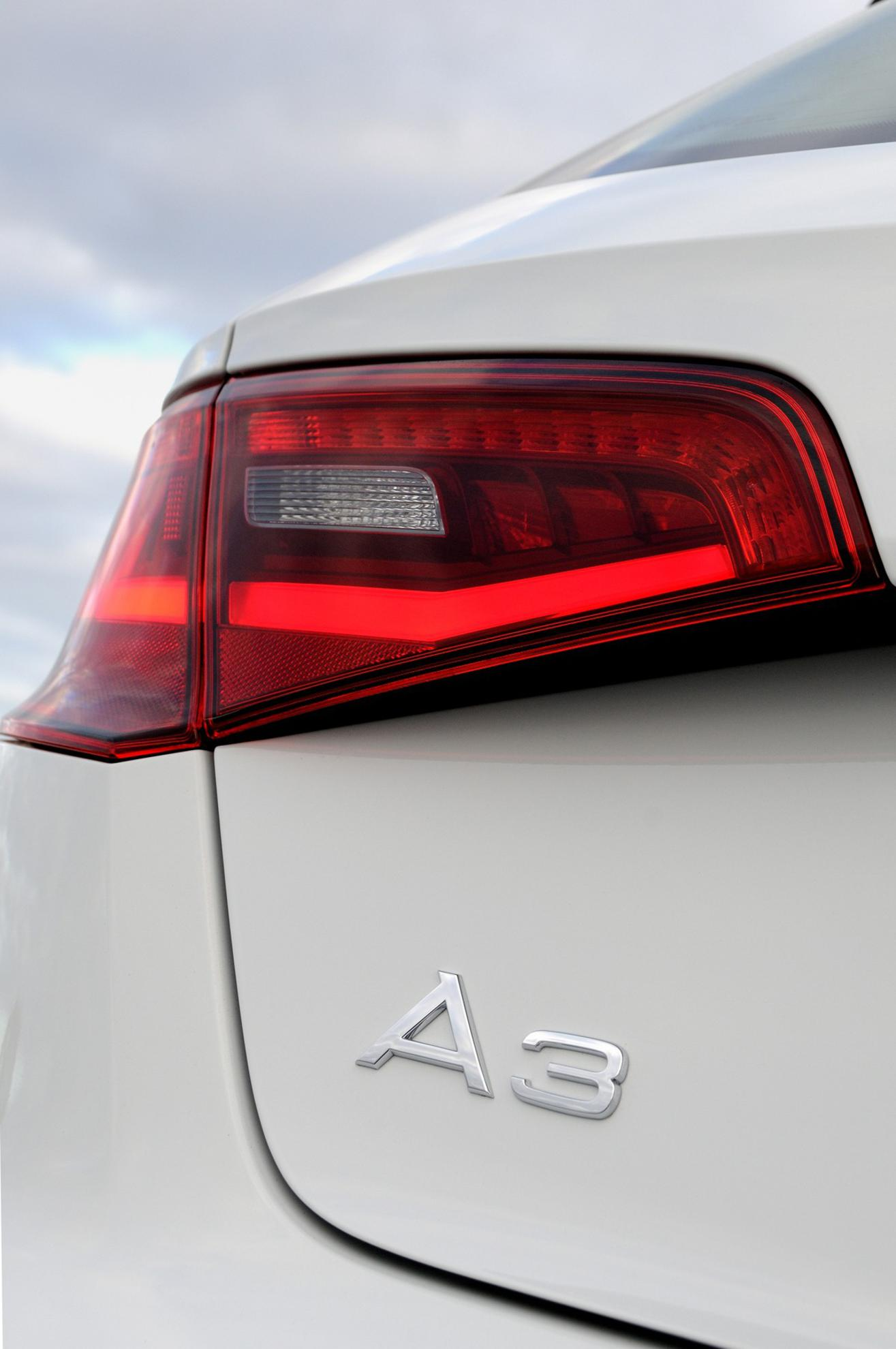 Audi A3 Sportback Rear Lights and Logo - 3D Car Shows