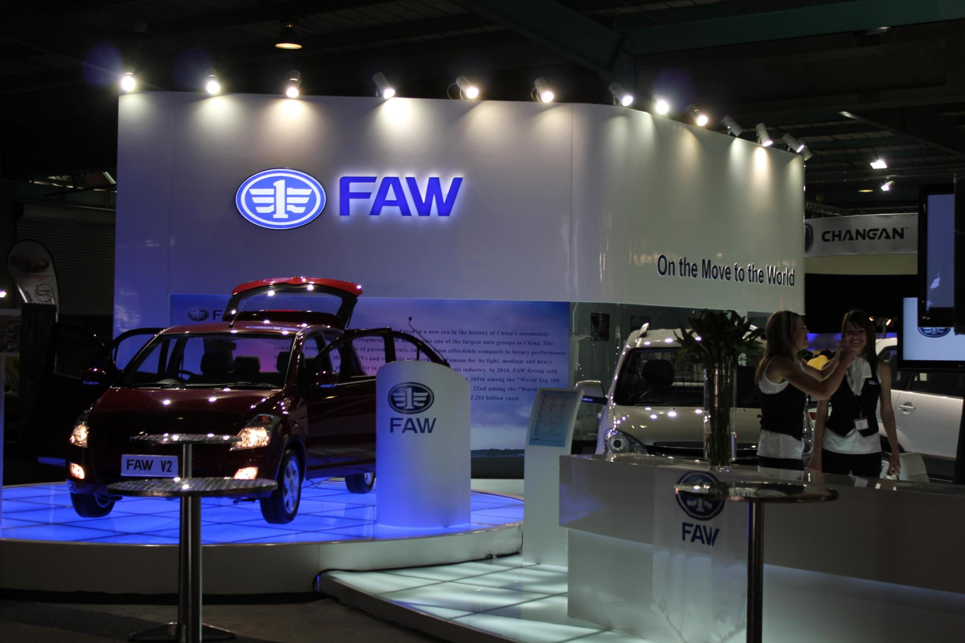 FAW at the Johannesburg Motor Show