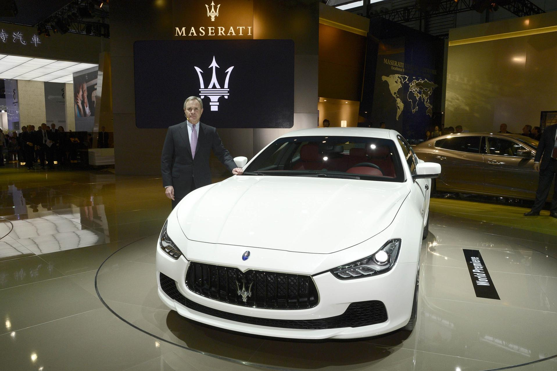 Maserati Ghibli premiere at the Shanghai Auto Show 2013