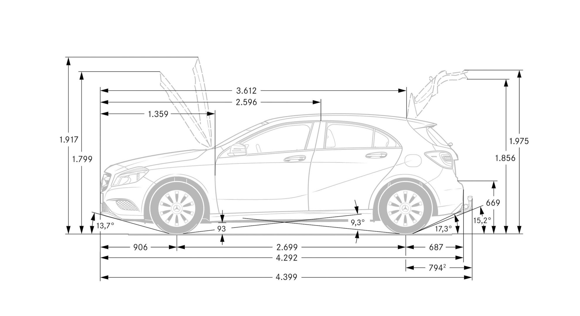 the chassis and suspension of the mercedes benz a class 2013. Black Bedroom Furniture Sets. Home Design Ideas