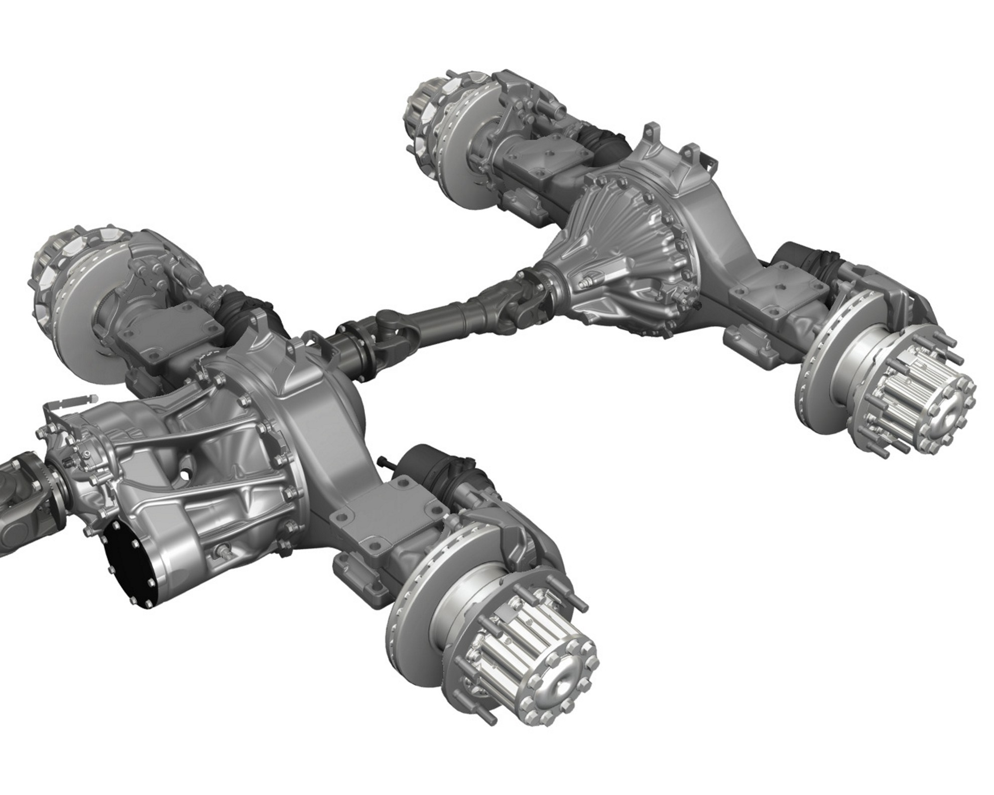 Semi Tractor Front Axle : Mercedes benz actros achieves great fuel efficiency with