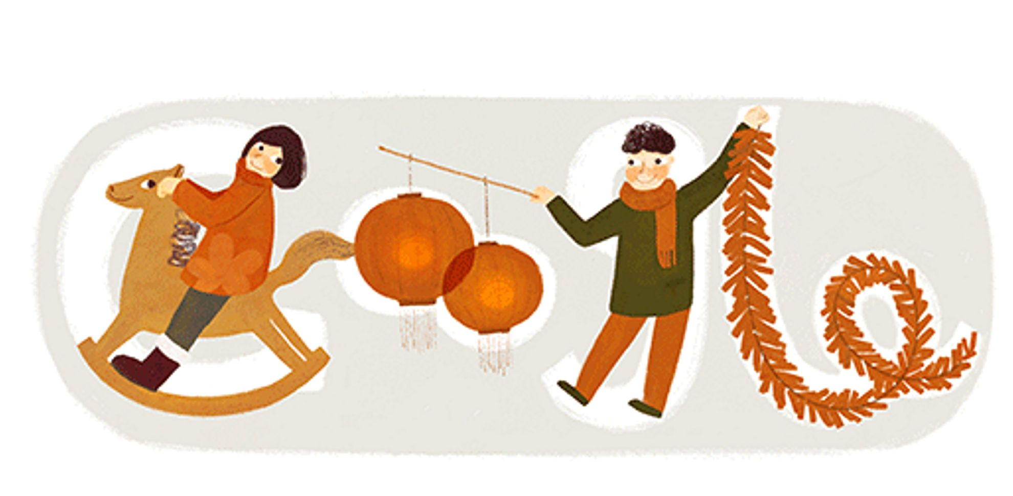today 30 january 2014 google started the chinese new year 2014 early