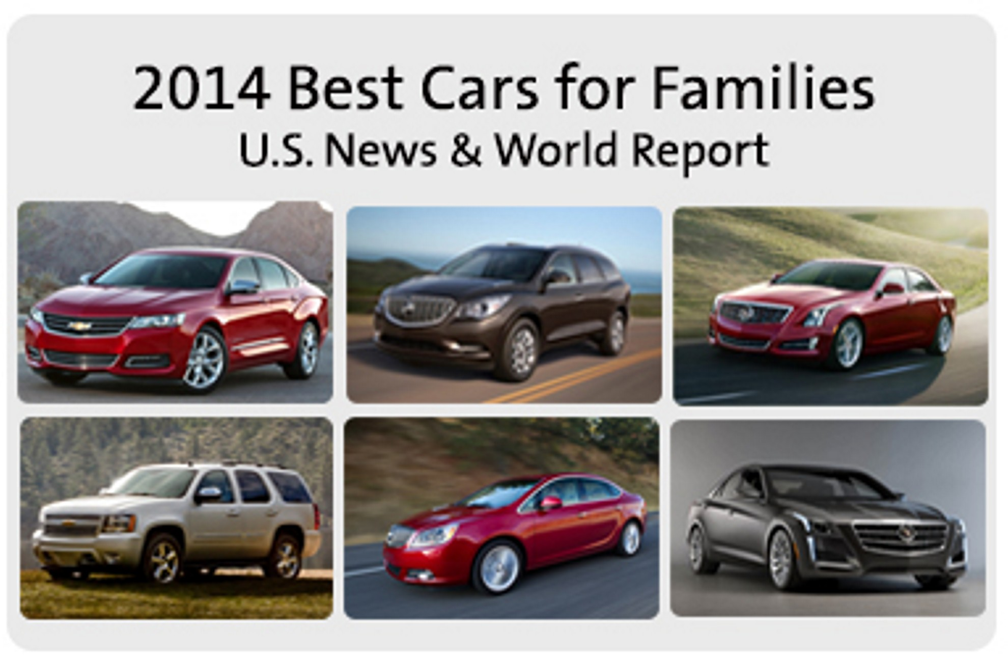 Gm wins six best family car awards for Family motors used cars