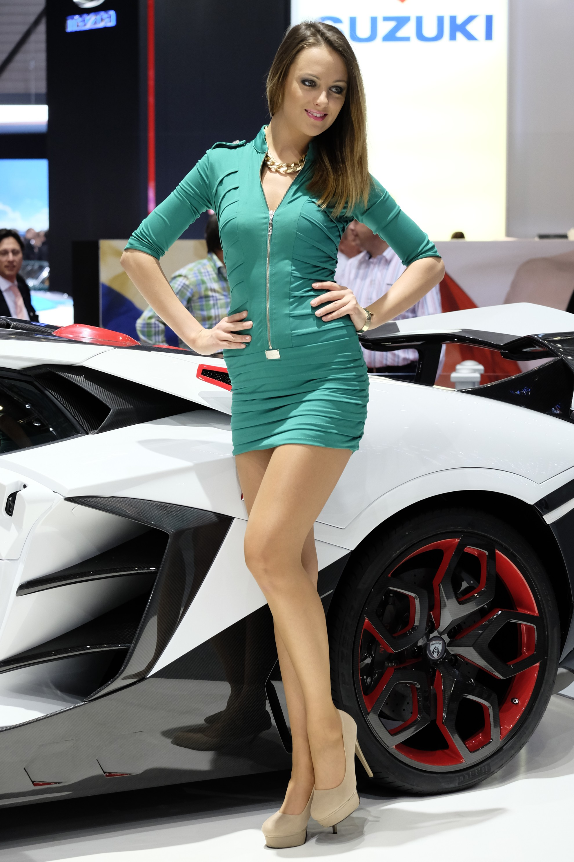 geneva motor show car show girls 2014. Black Bedroom Furniture Sets. Home Design Ideas