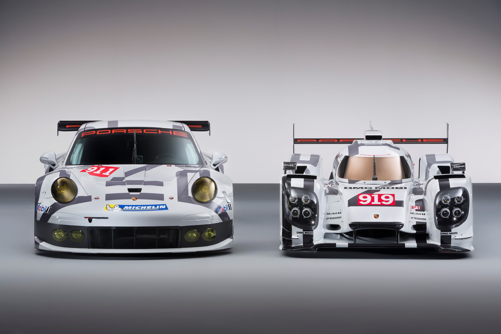 2014 Porsche 911 Rsr And Porsche 919 Hybrid At The Geneva