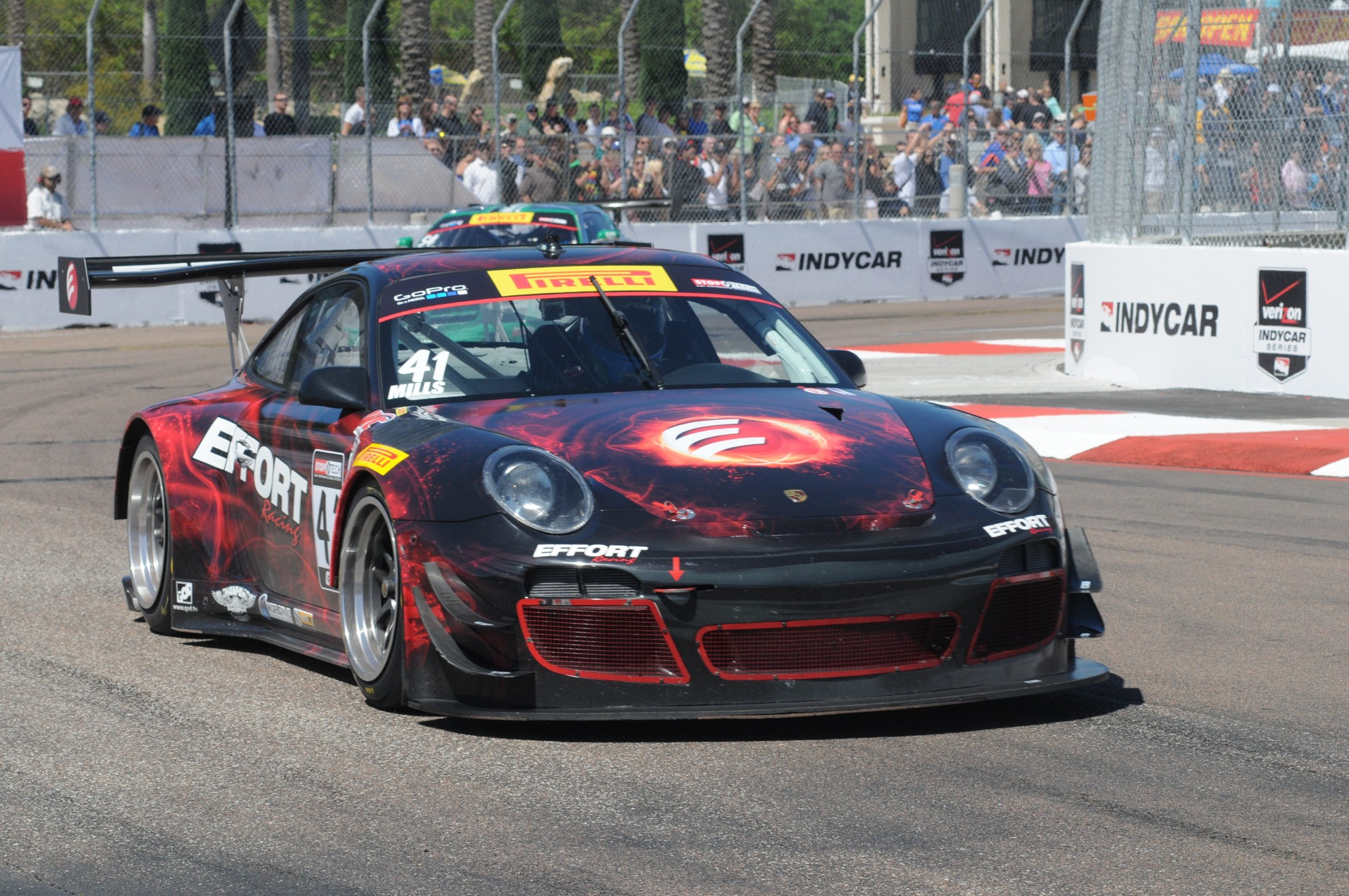 Porsche World Challenge Racecar Shows Promise at St. Petersburg for Professionals and Amateurs