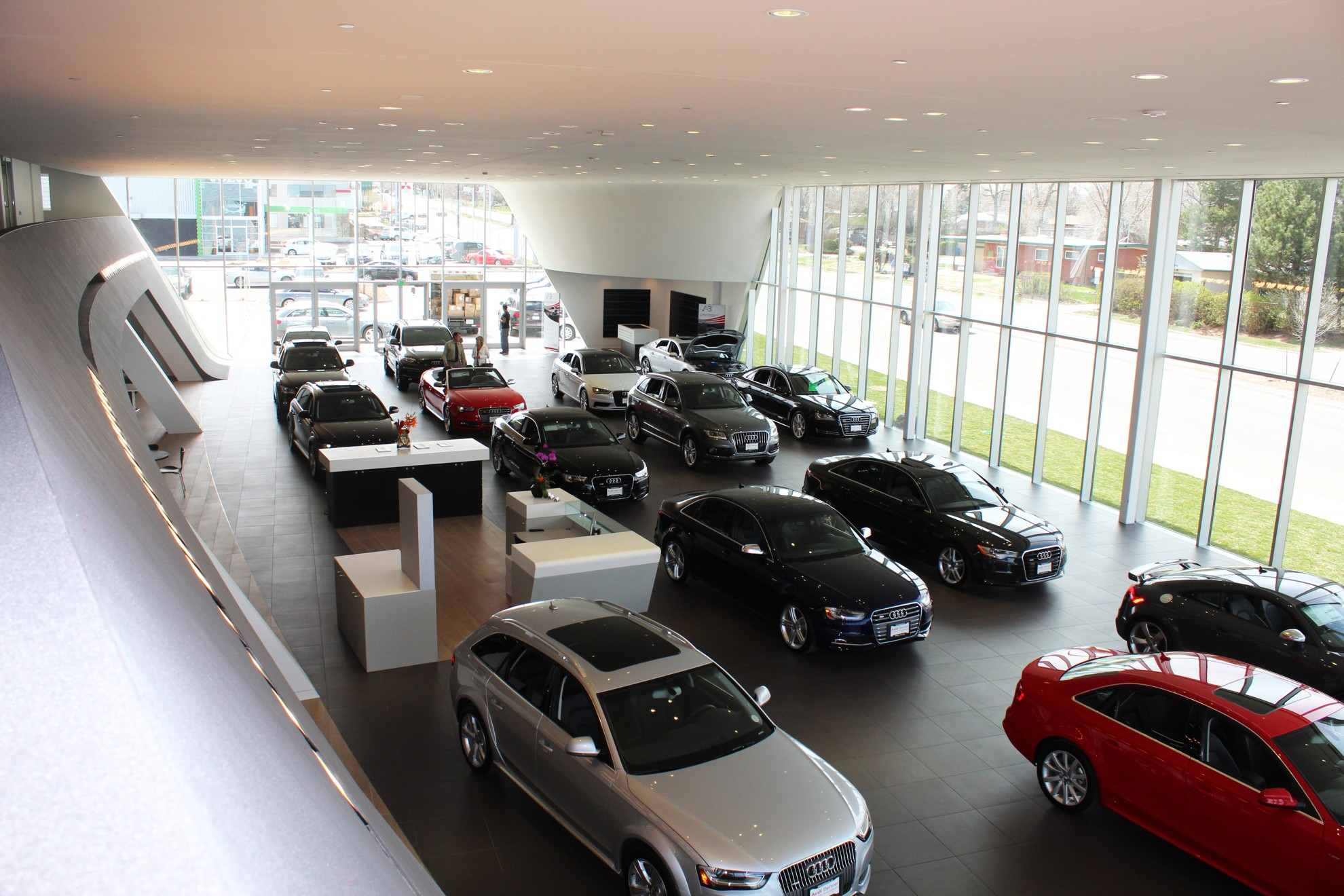 audi denver usa certified pre owned showroom  open