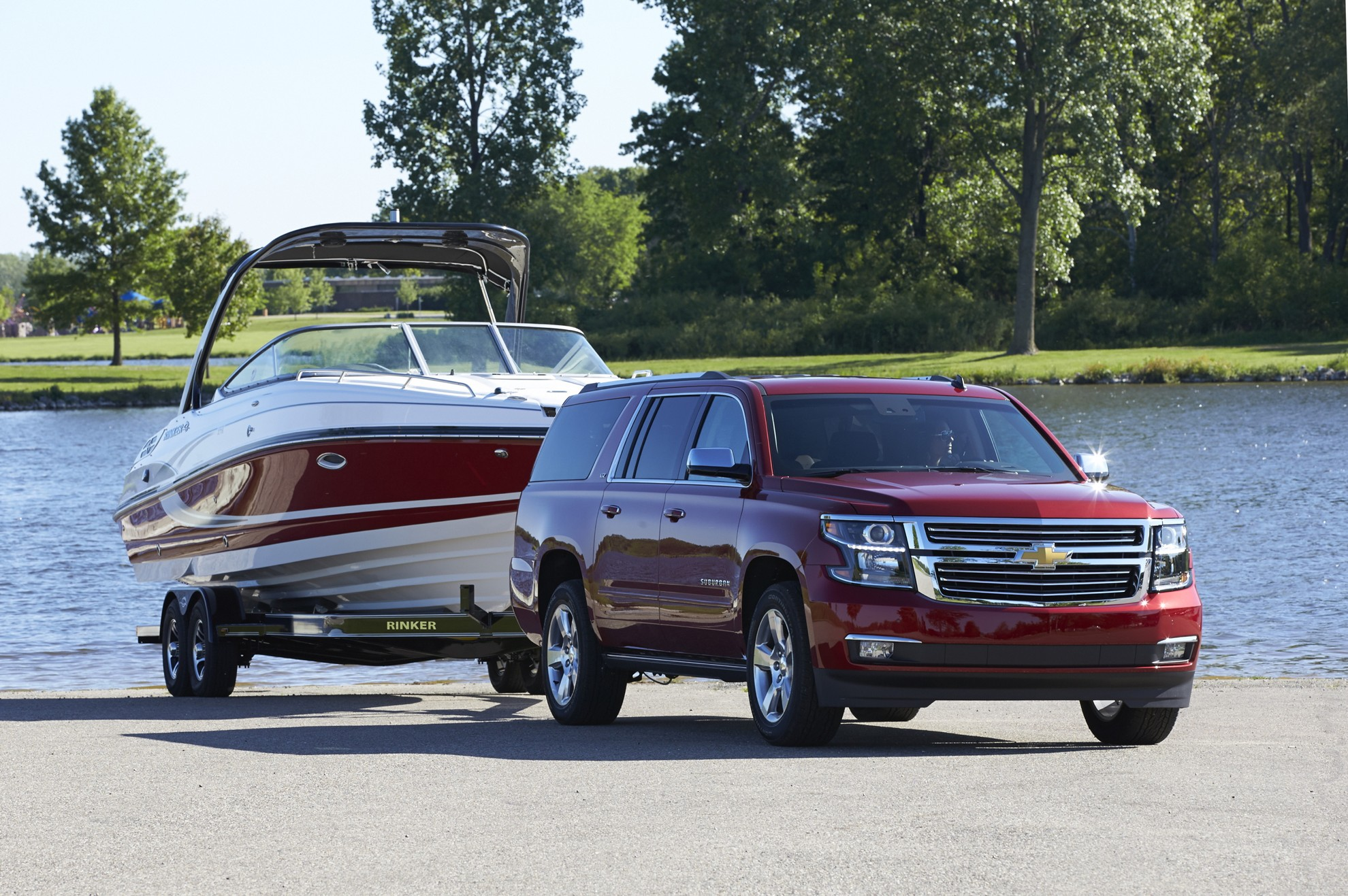 chevrolet suburban offers every comfort for vacation cruising. Black Bedroom Furniture Sets. Home Design Ideas