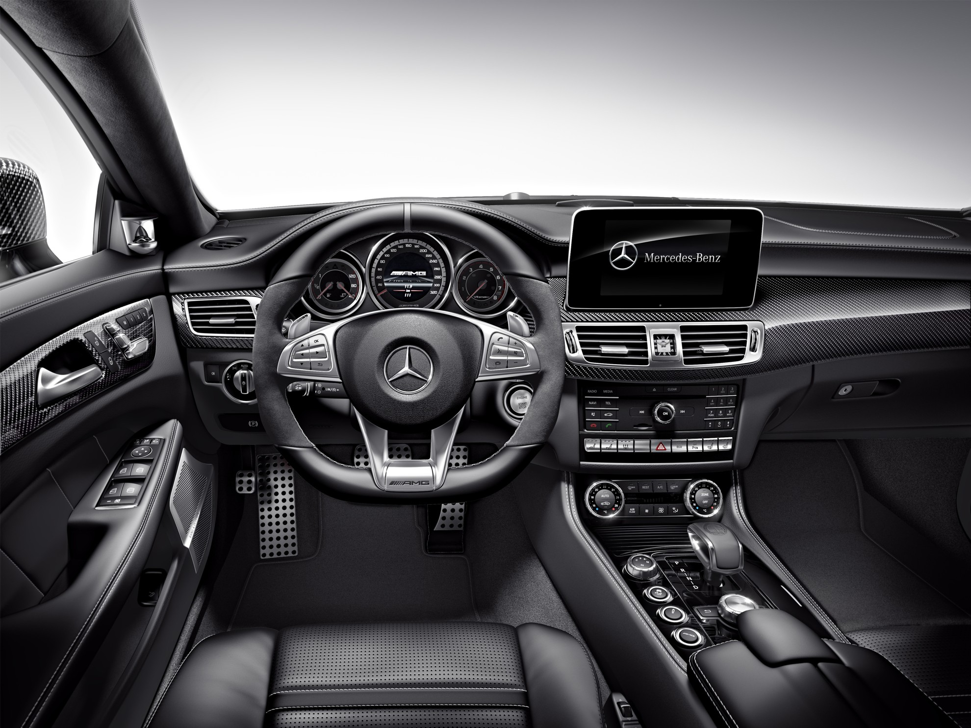 3d car shows mercedes benz cls 2014 interior. Black Bedroom Furniture Sets. Home Design Ideas