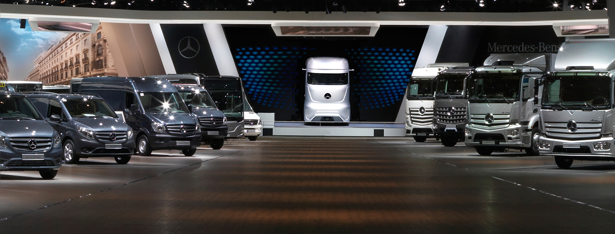 Hanover auto show germany mercedes benz trucks - Mercedes car show ...