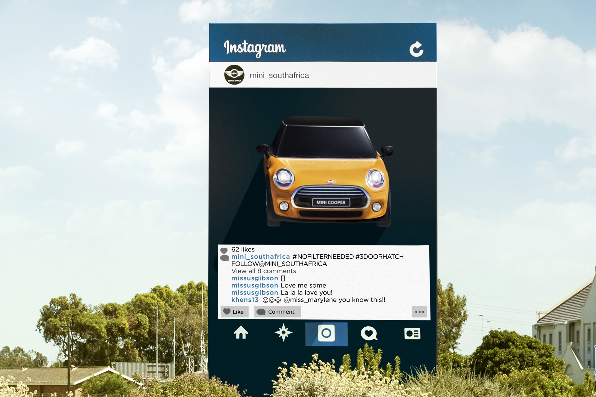 Mini Goes Live With The First Ever Instagram Billboard