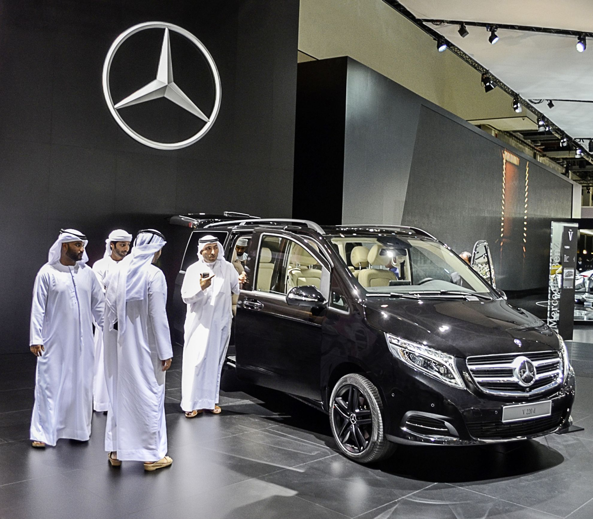Beautiful Dubai International Motor Show