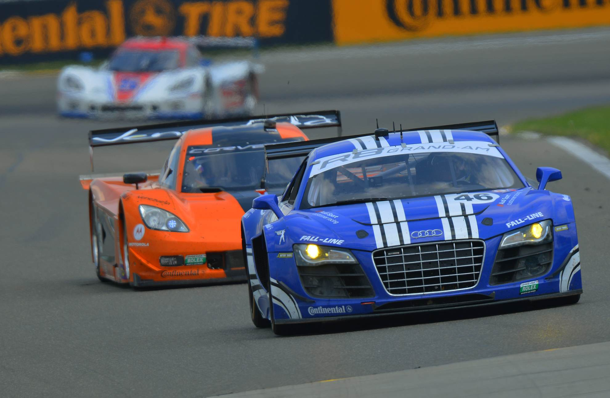 Two audi r8 grand am race cars to contest at world famous for Am motors used cars