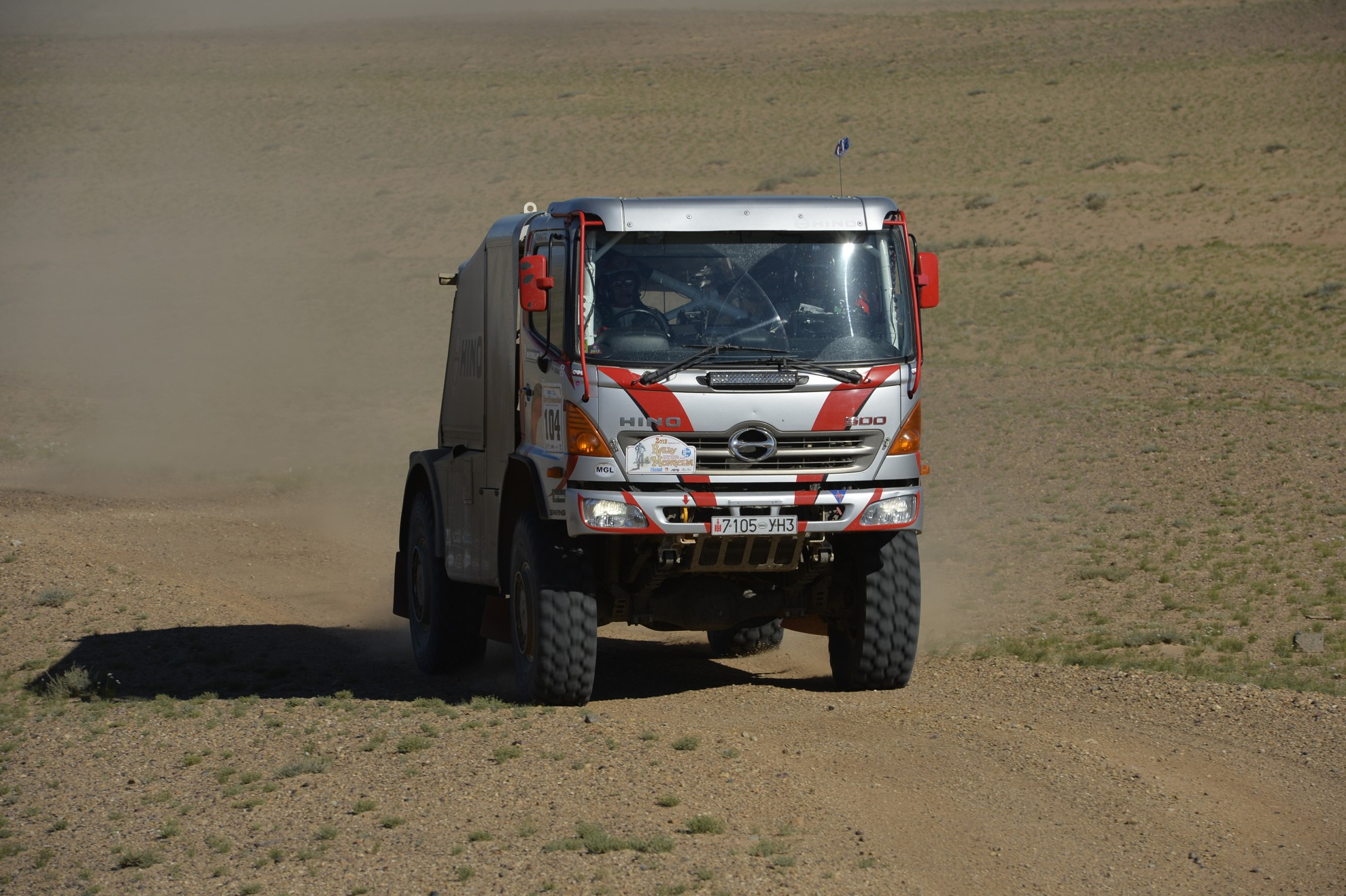 Hino Trucks getting ready for DAKAR 2014